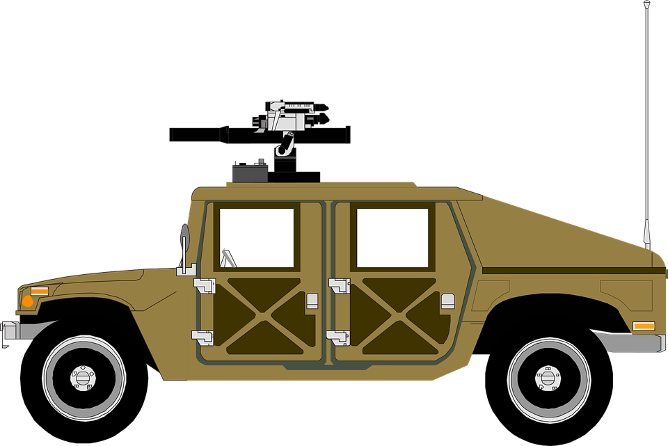 Free vector graphic: Army, Humvee, Military, Sand, Tank.