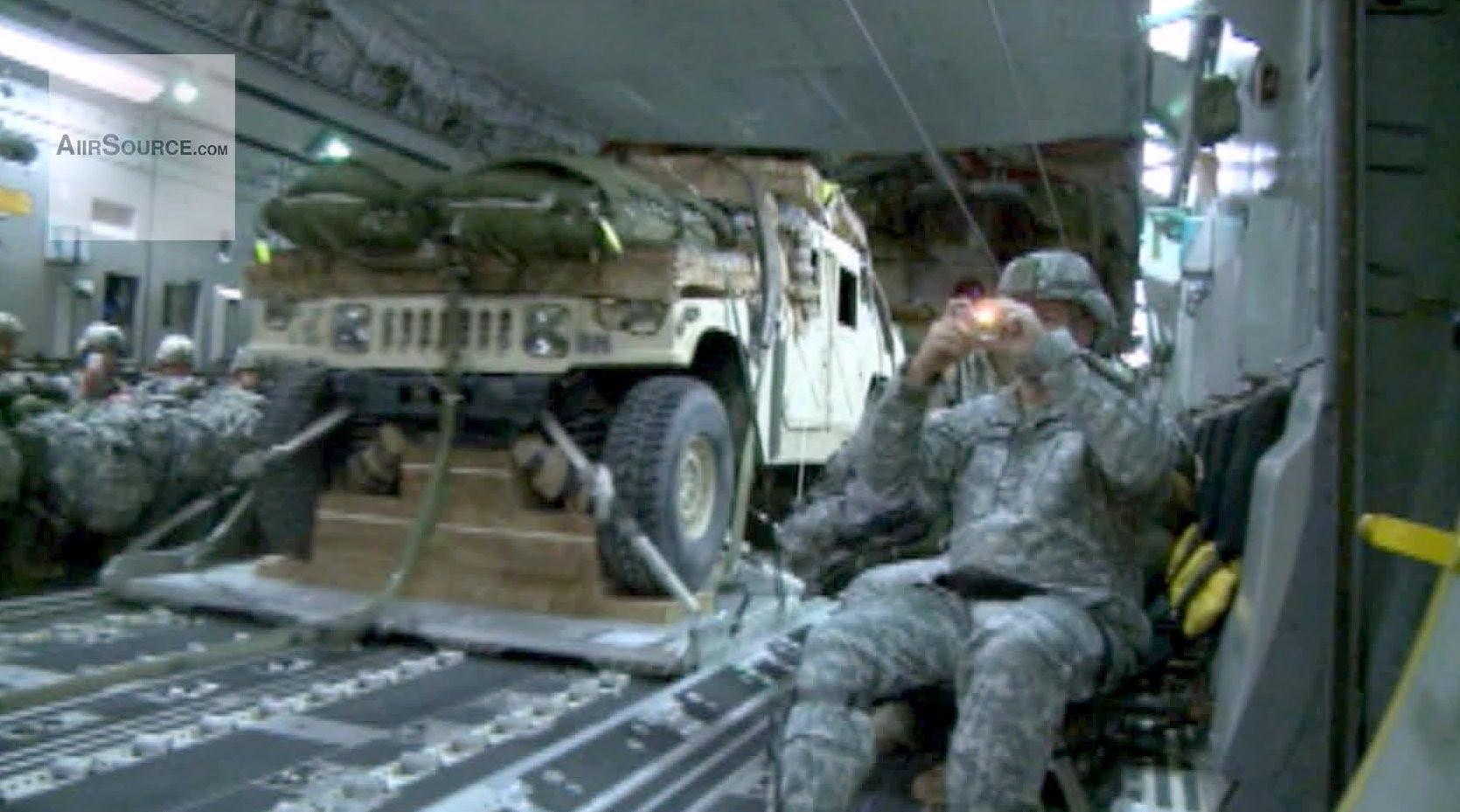 Humvee Airdrop From C.