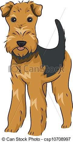 EPS Vectors of Airedale Terrier.