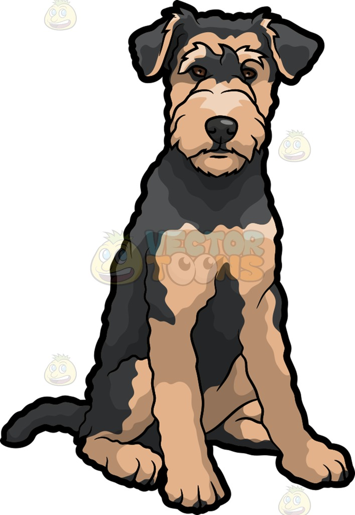 Dog clipart airedale.