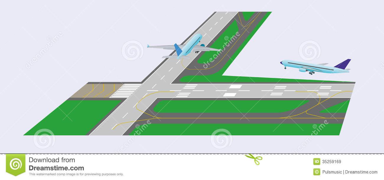 Airport Runway Clip Art.