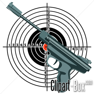 Vector Air Rifle Clipart Logo.