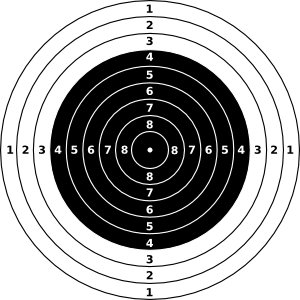 Vector Air Rifle Clipart Logo.