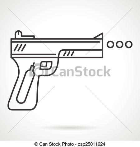 Vector Illustration of Contour vector icon for air gun.