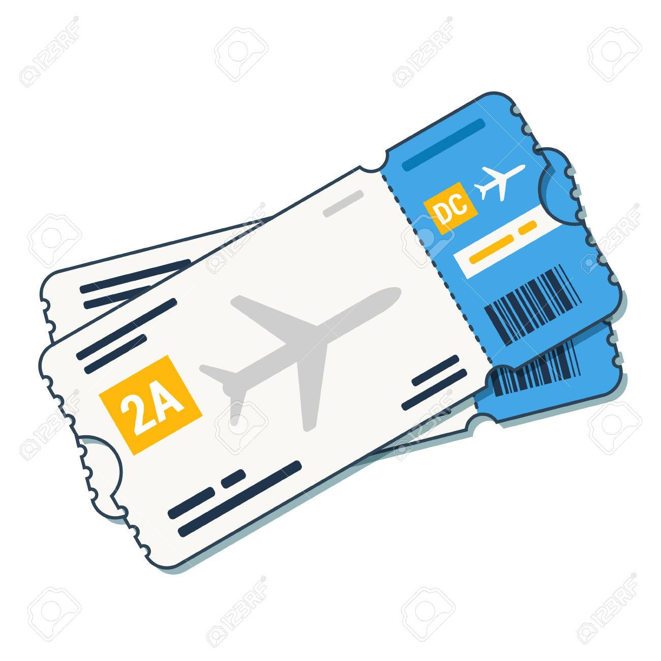 Airline tickets ,boarding pass icon Airline boarding pass.