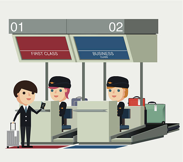 Check In Airport Clipart.