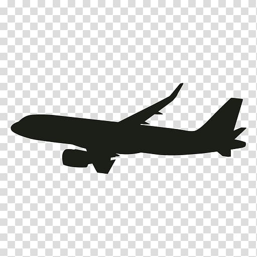 Silhouette of plane , Aircraft Flight Airplane Airliner.