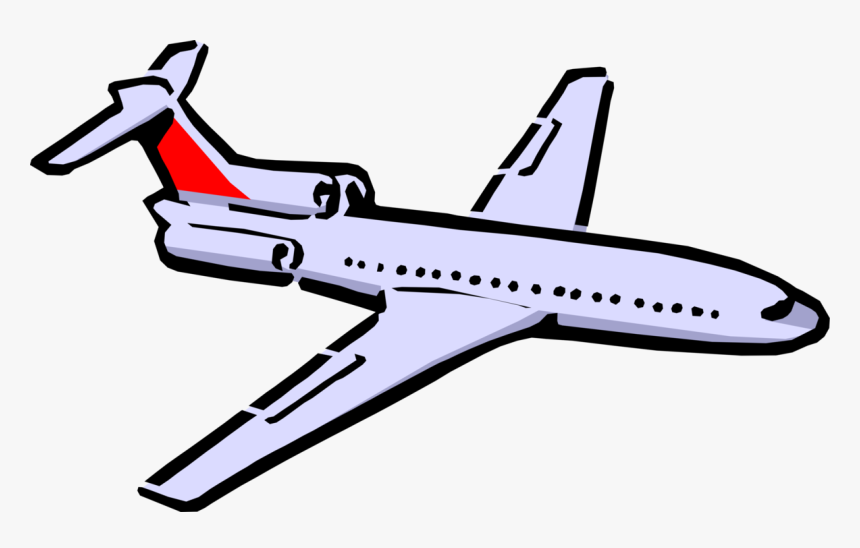Vector Illustration Of Commercial Airplane Passenger.