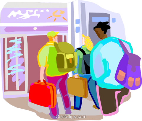 Airline passenger terminal Royalty Free Vector Clip Art.