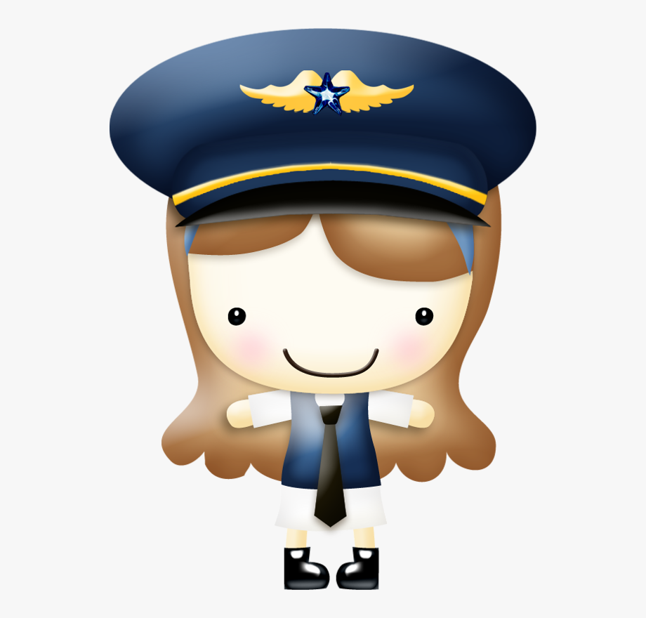 In The Clouds Airline Pilot Clip Art.