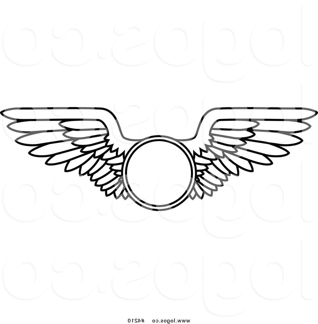 Unique Aviation Wings Clip Art Drawing » Free Vector Art.