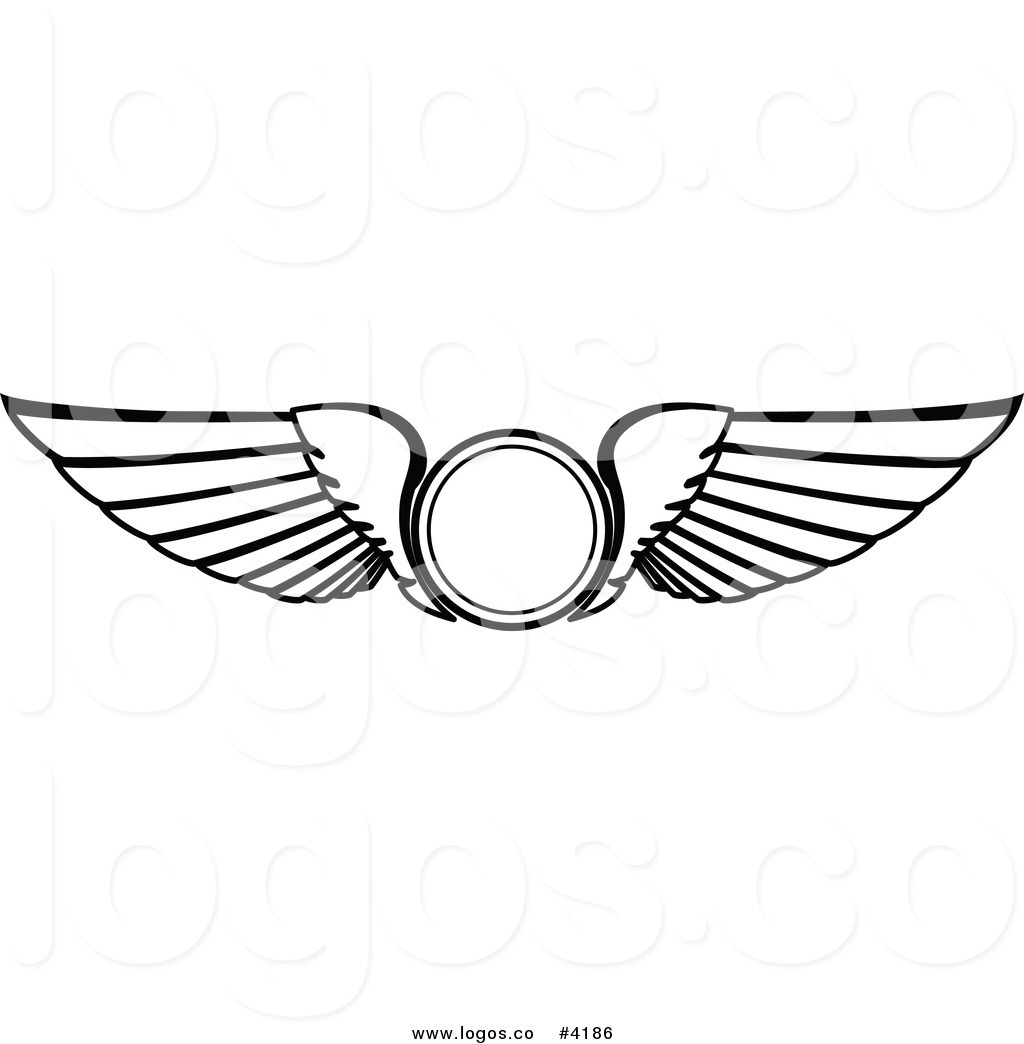 Pilot Wings Clipart.