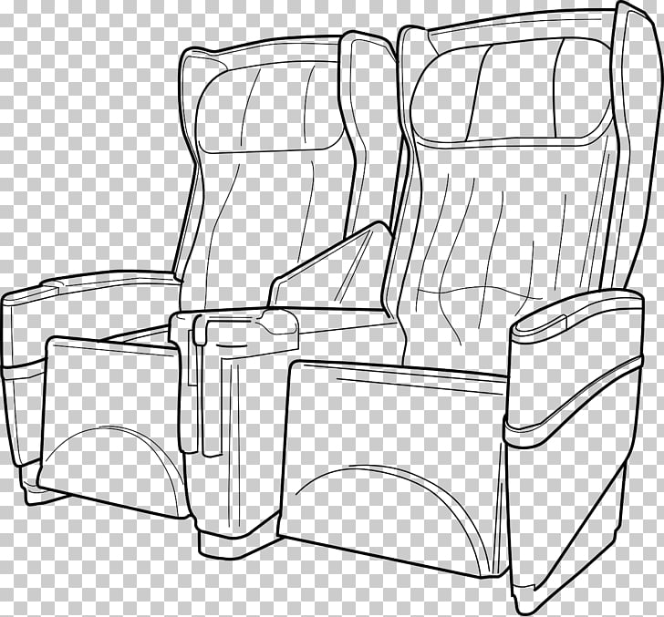 Airplane Airline seat , seat PNG clipart.
