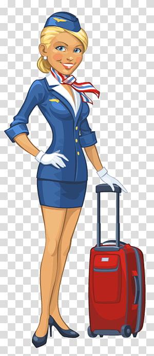 Flight attendant Airplane Airline, airplane transparent.