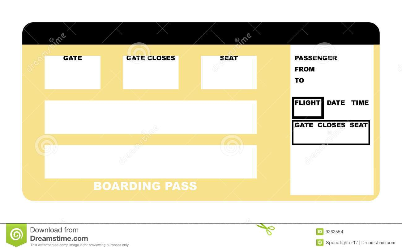 Airline Ticket Stock Illustration. Spani #58504.