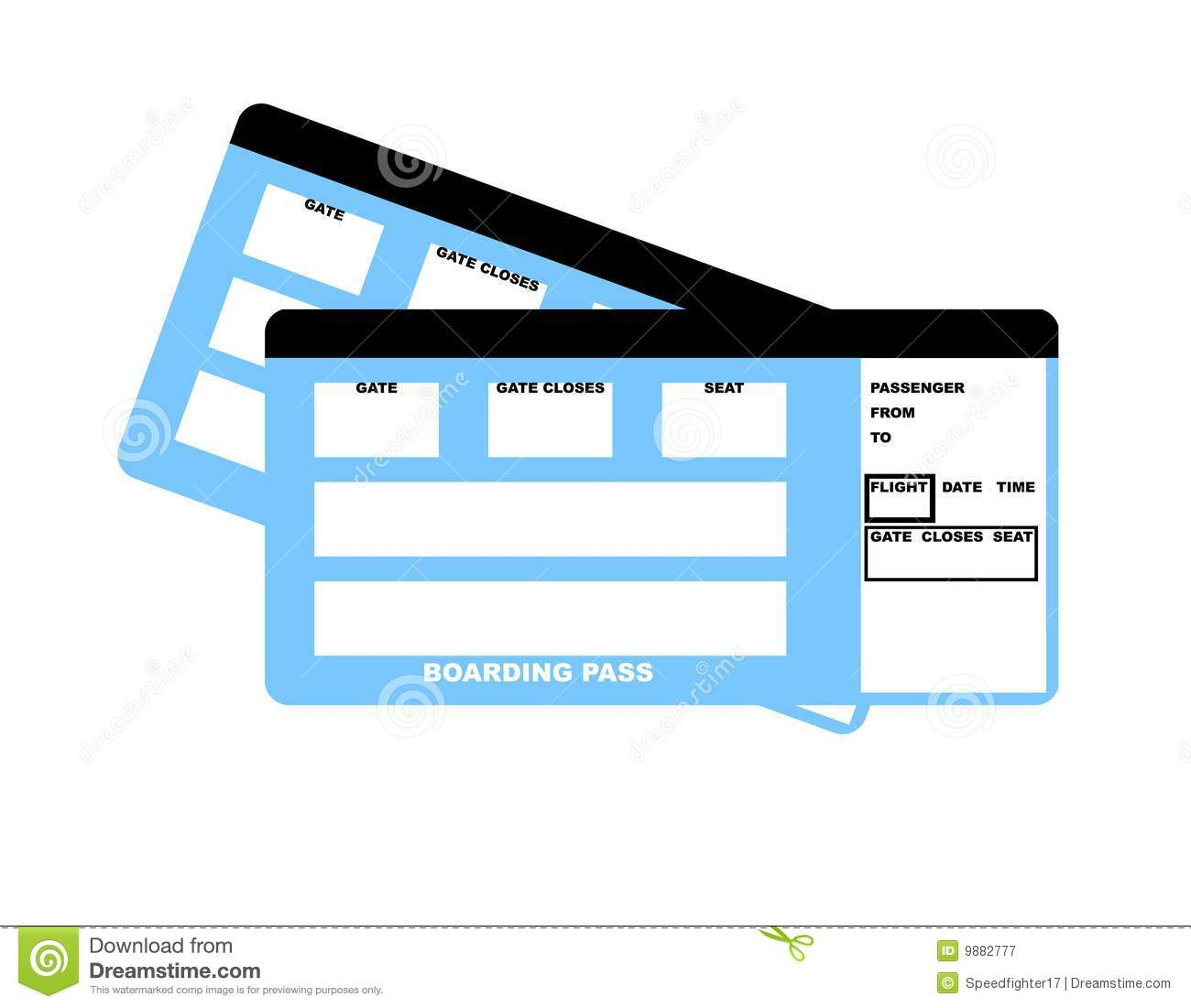 3177 Ticket free clipart.