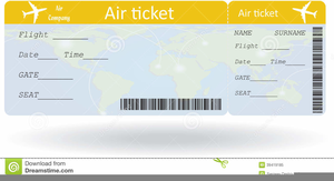 Free Clipart Airline Ticket.