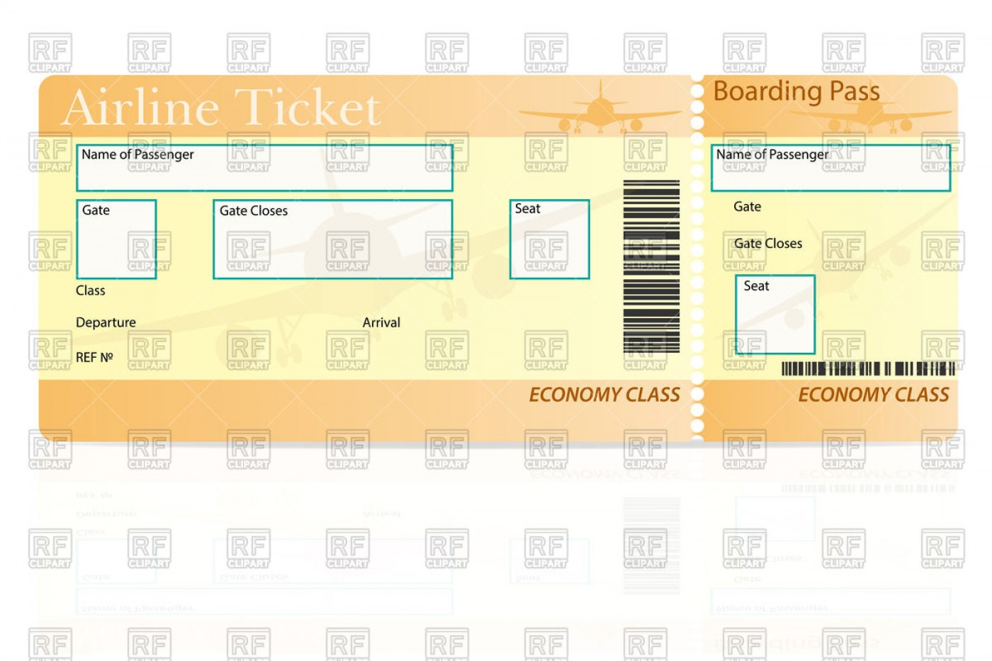 015 Free Airline Ticket Template Word Outstanding Ideas.