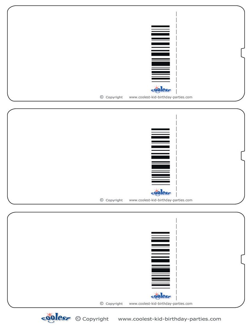 Blank Printable Airplane Boarding Pass Invitations Coolest.