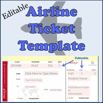 airline ticket template free.