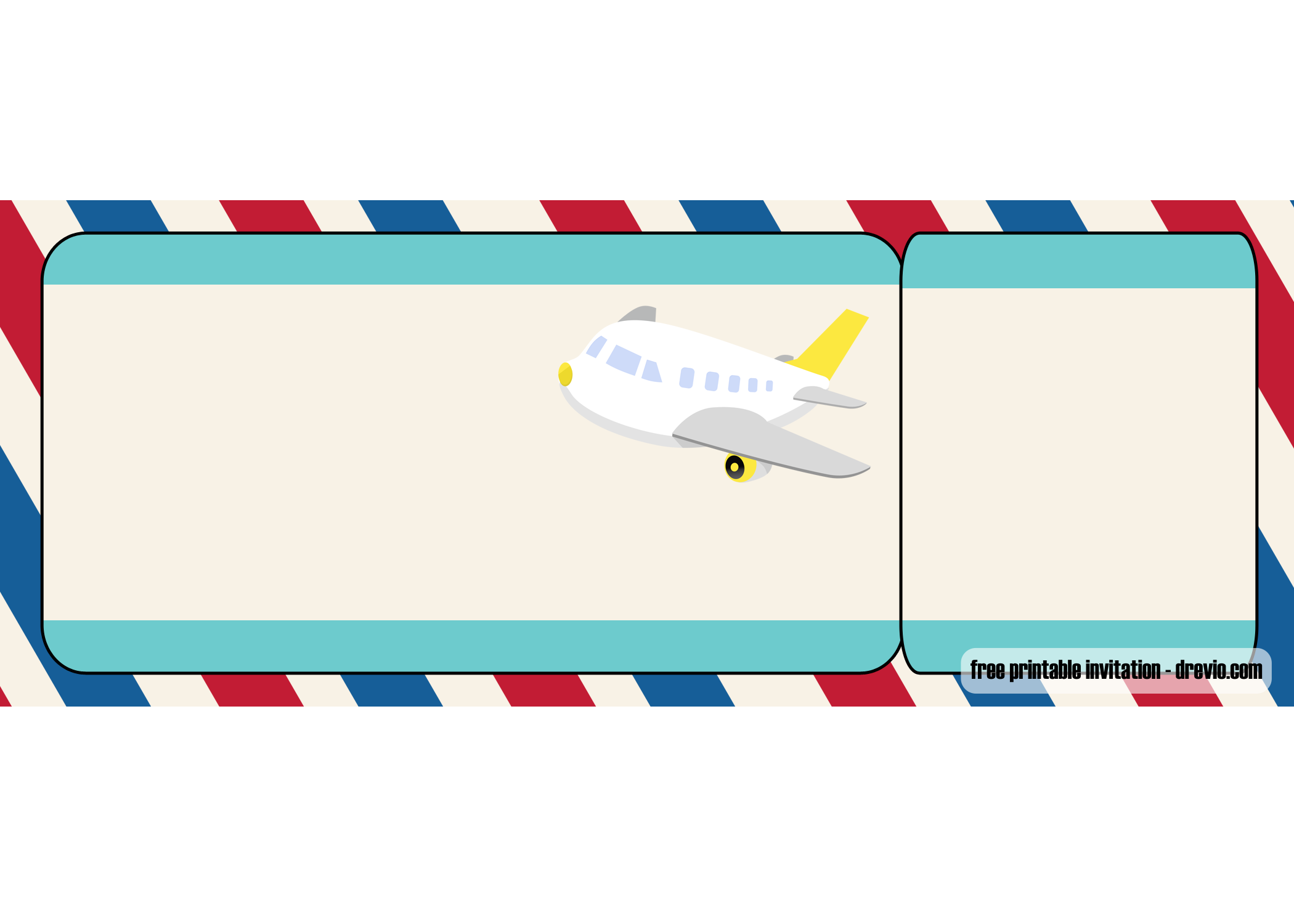 FREE Airplane Ticket Birthday Invitation Templates.