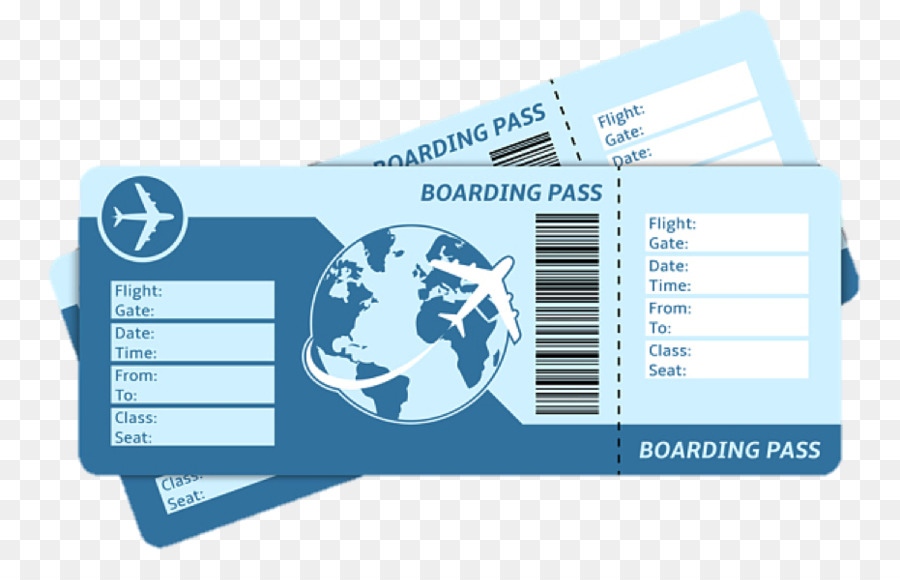 Travel Ticket png download.