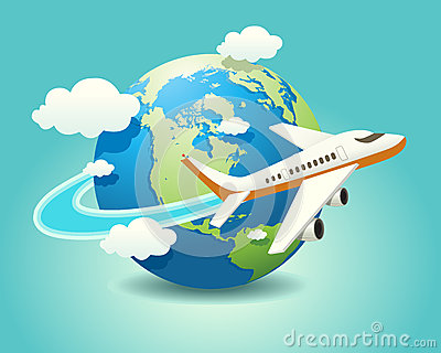 Clip Art Airplane Travel Clipart.