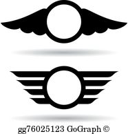 Aviation Wings Clip Art.