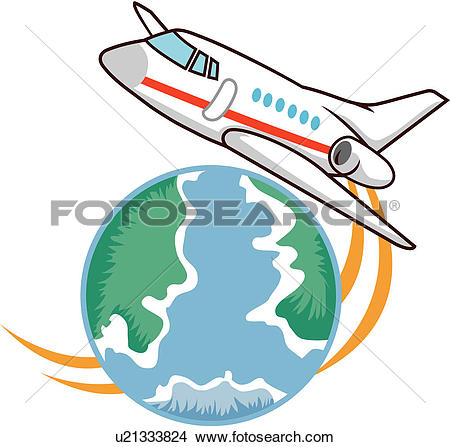 Clip Art of aviation, natural, traffic, transport, travel.