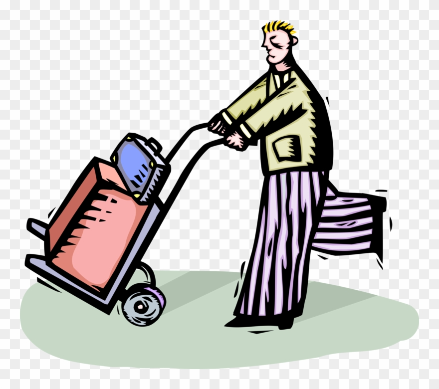 Luggage Clipart Baggage Cart.