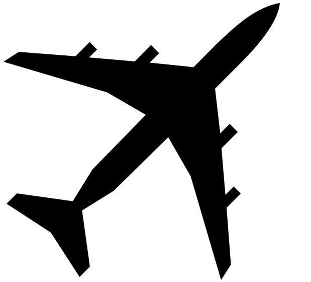 Image of Airplane Clipart Black and White Airport Clip Art.