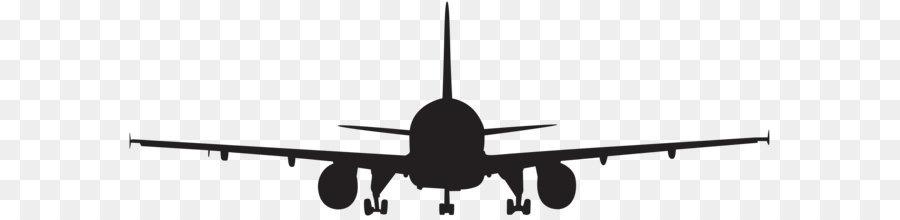 Airplane Aircraft Silhouette Clip art.