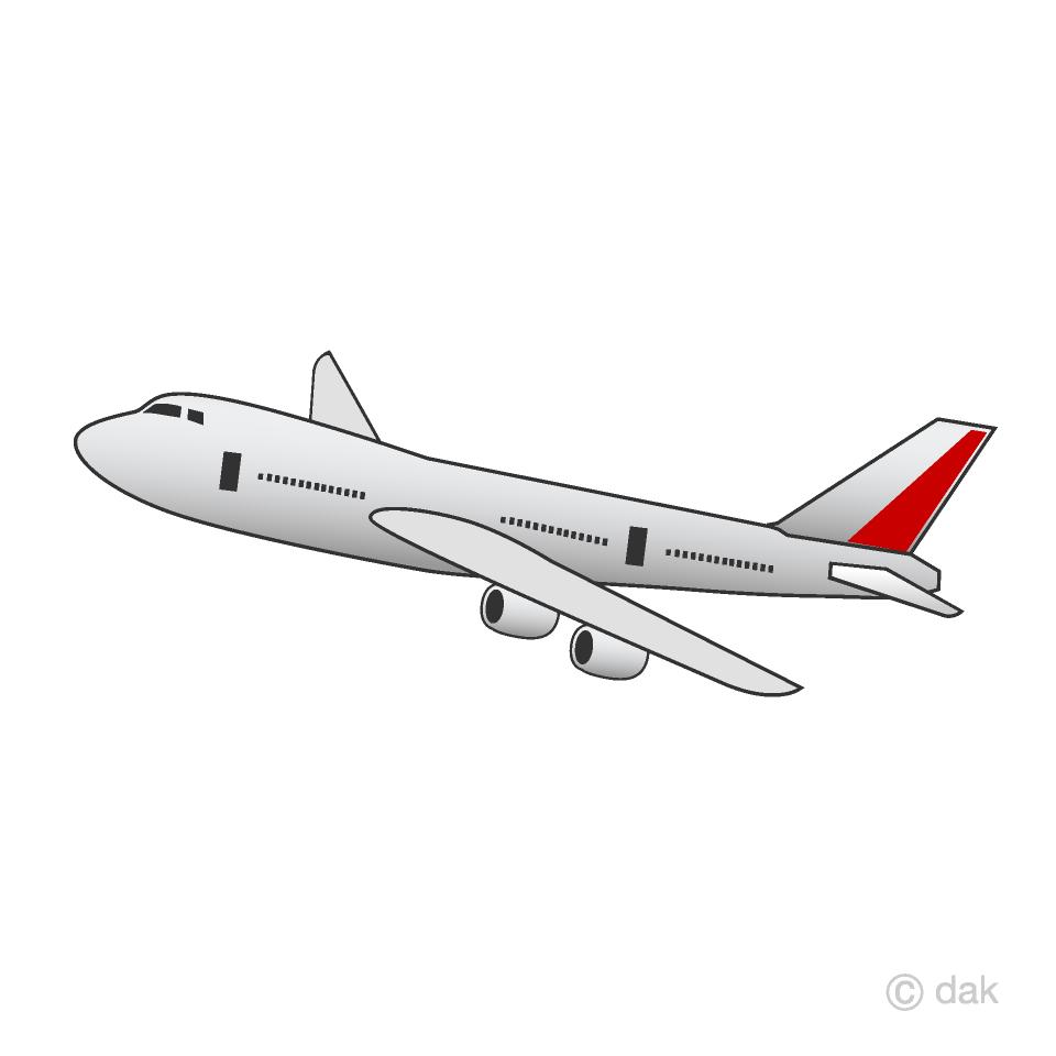Free Flying Airplane Clipart Image|Illustoon.
