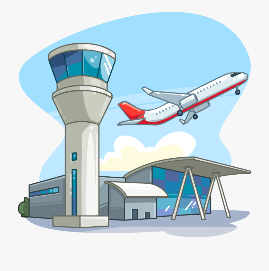 Clipart Airplane Tower.