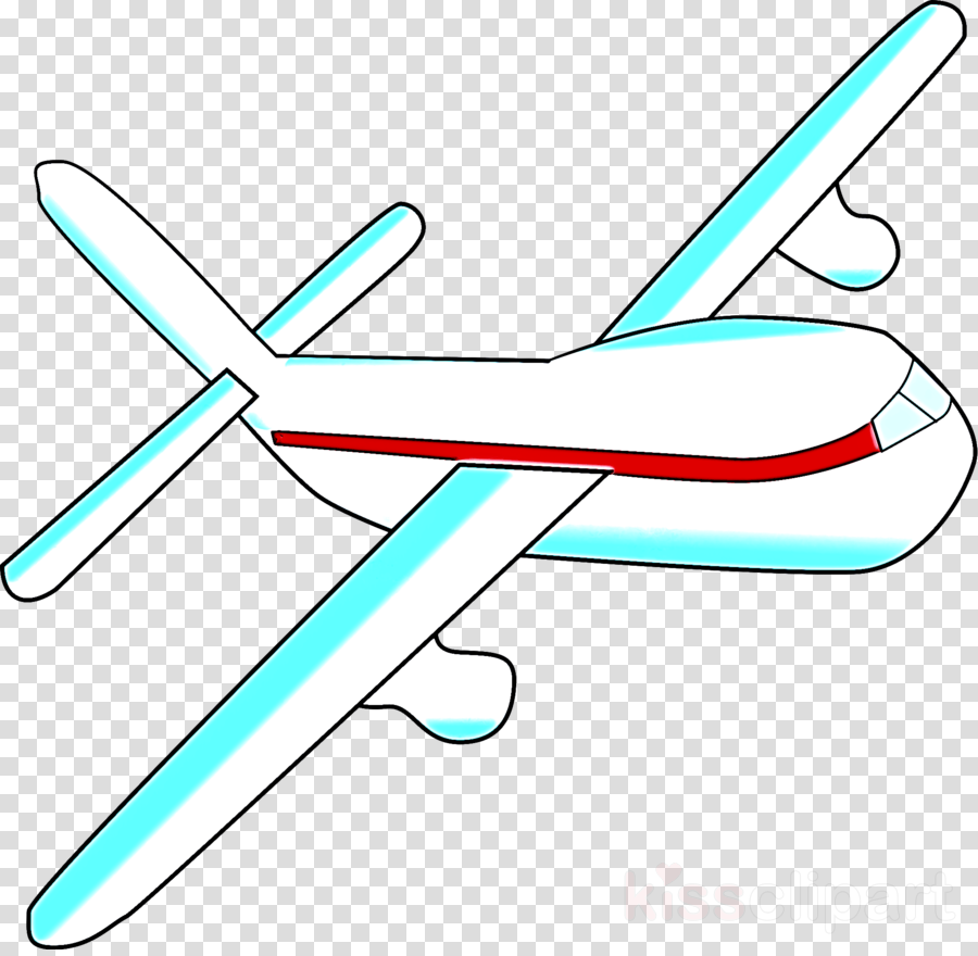 line wing airplane clip art radio.