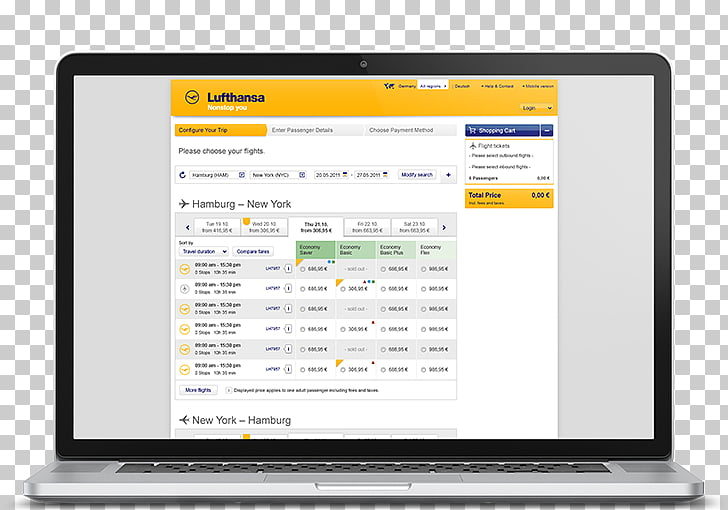 Lufthansa Internet booking engine United Airlines United.