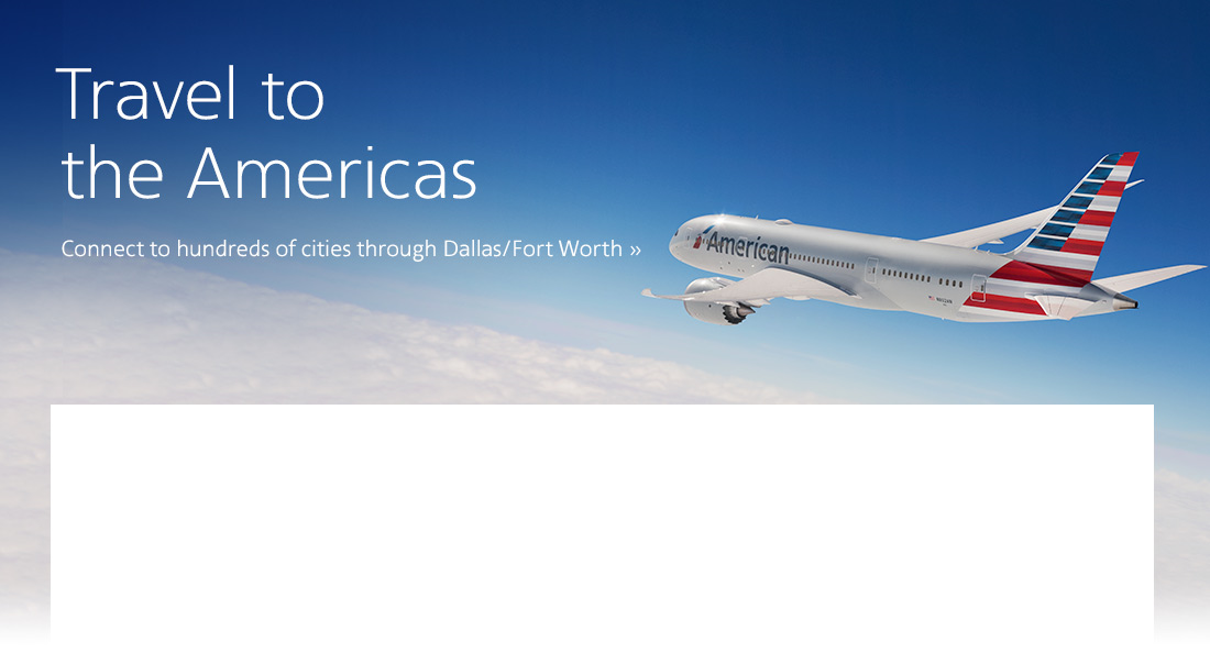 Airline Tickets and Airline Reservations from American Airlines.
