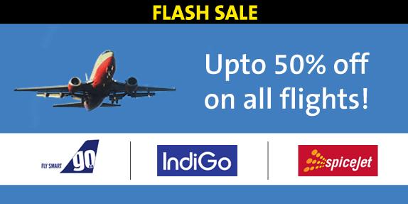 Upto 50% OFF on Domestic Flights.