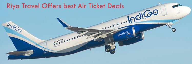 Riya Travel offers best deal on domestic flight booking, cheap.