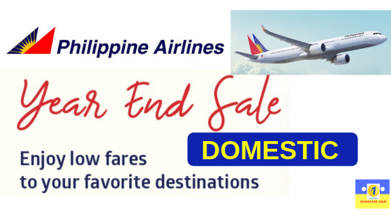 Philippine Airlines YEAR END SALE 2018 for 2019 Domestic Flights.