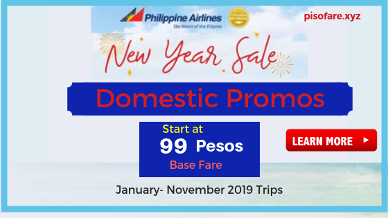 Philippine Airlines New Year Seat Sale 2019 Domestic Flights.