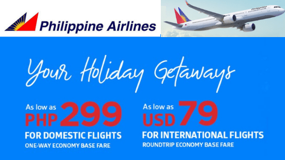 Philippine Airlines Promo Fare November and December 2018.