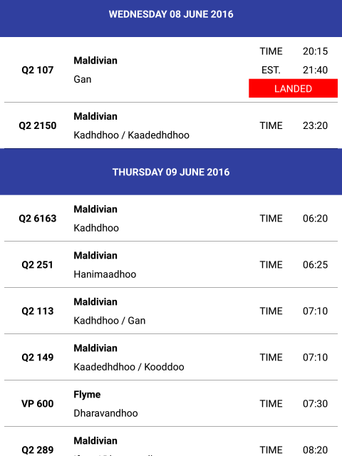 Airlines png flight schedule 1 » PNG Image.