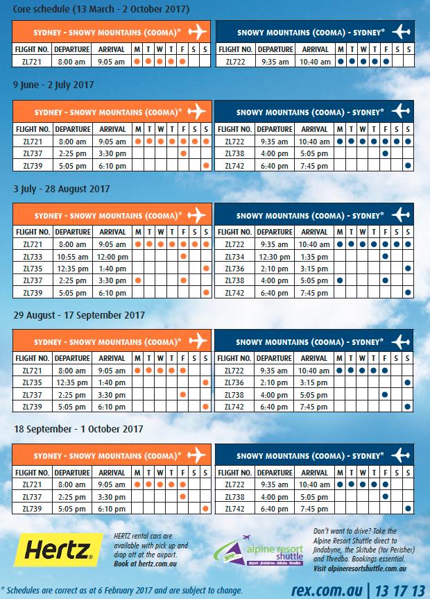 2017 Winter Schedule released..