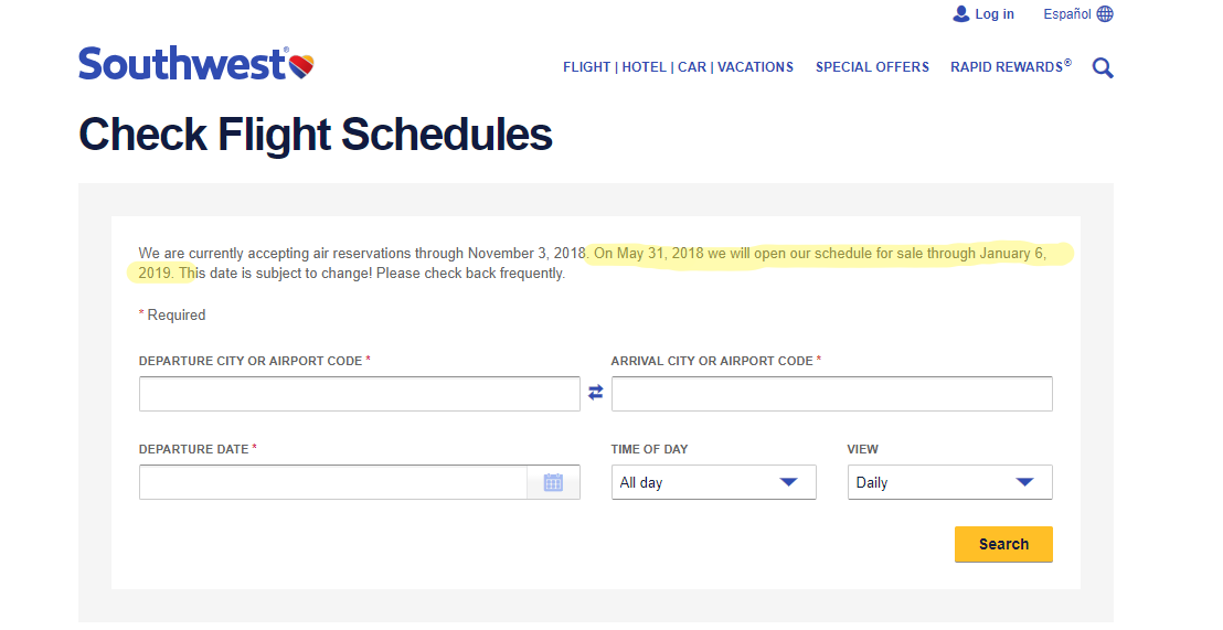 Southwest Airlines Releases Holiday Flight Schedules TODAY!.