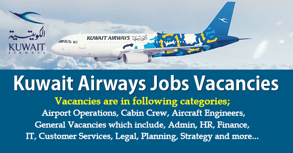 Latest Kuwait Airways Jobs Vacancies.