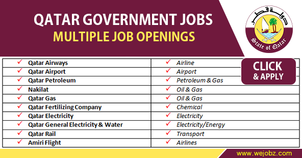 Qatar Government Job Vacancies.