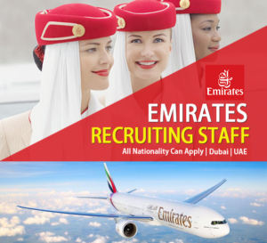 JOB VACANCY IN EMIRATES AIRLINE DUBAI UAE 2019.