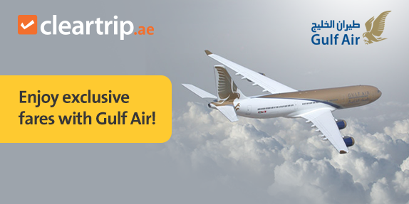 Special fares with Gulf Air!.