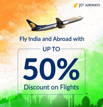 Jet Airways Offers up to 50% Discount on Flight Tickets.